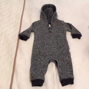 Gymboree fleece blue grey warm overall